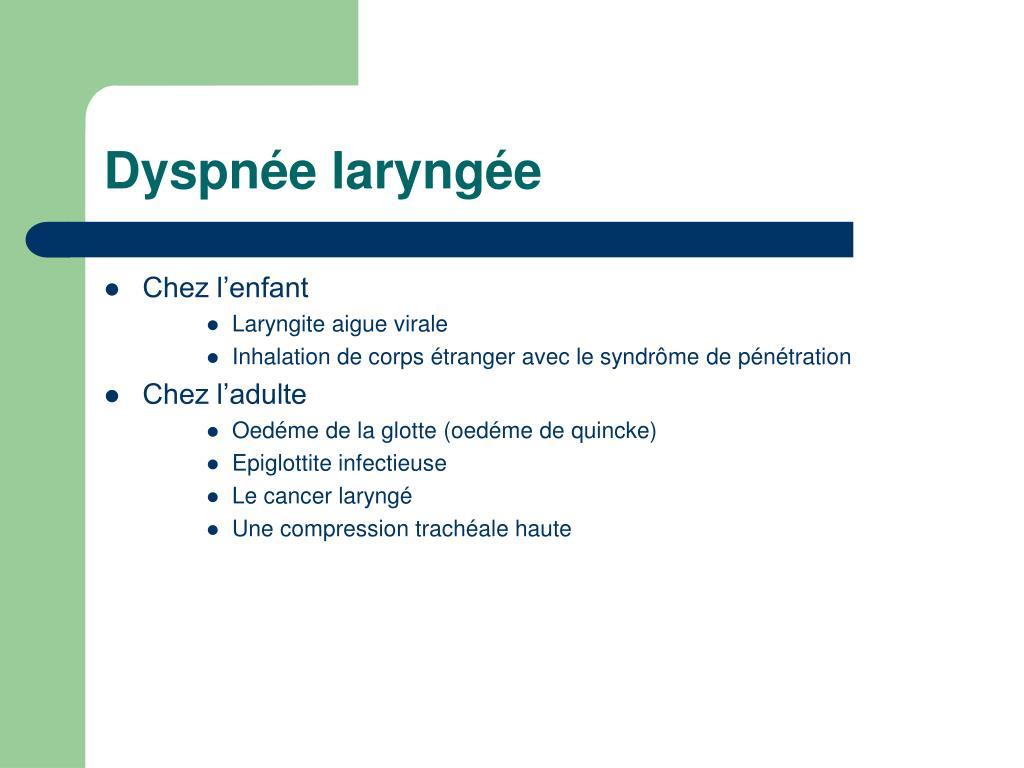 Dyspnée laryngée