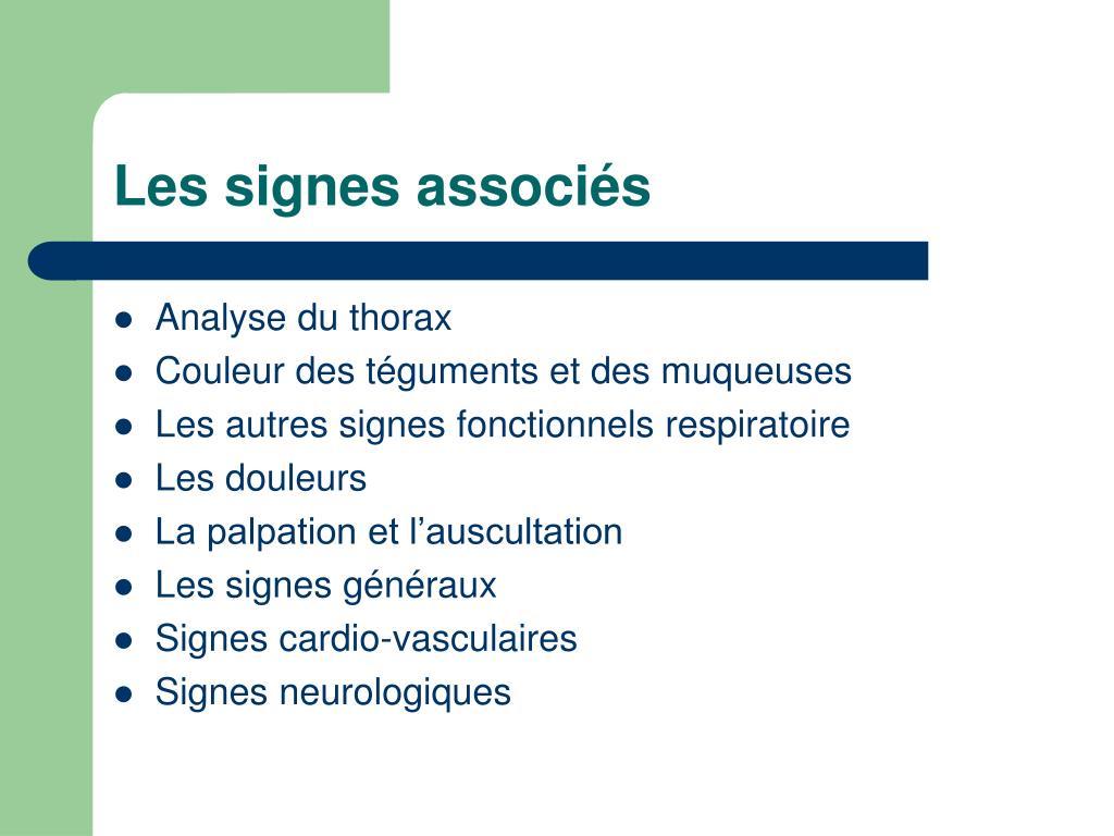 Les signes associés