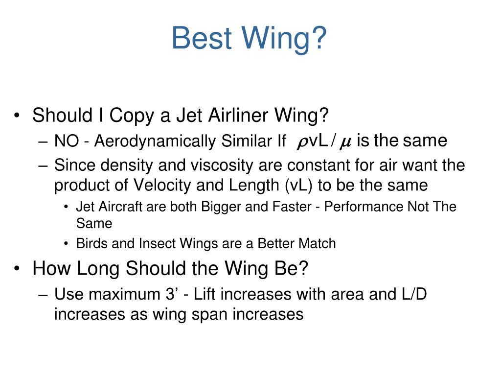 Best Wing?