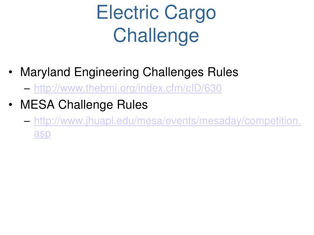 Electric Cargo Challenge