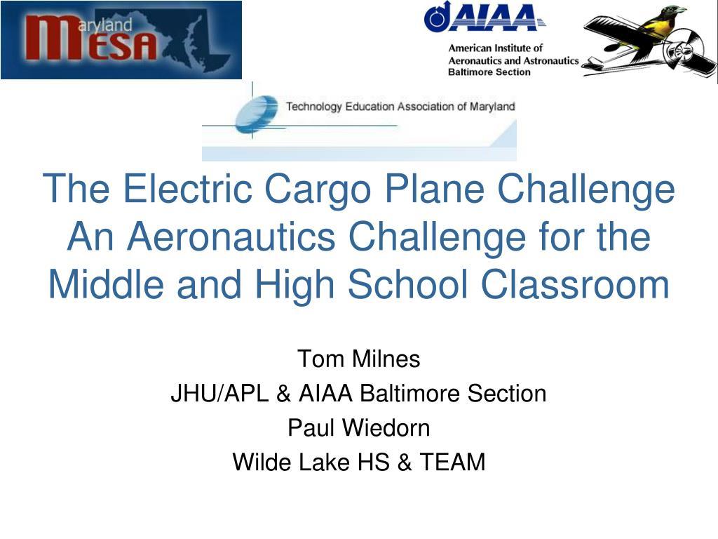 The Electric Cargo Plane Challenge