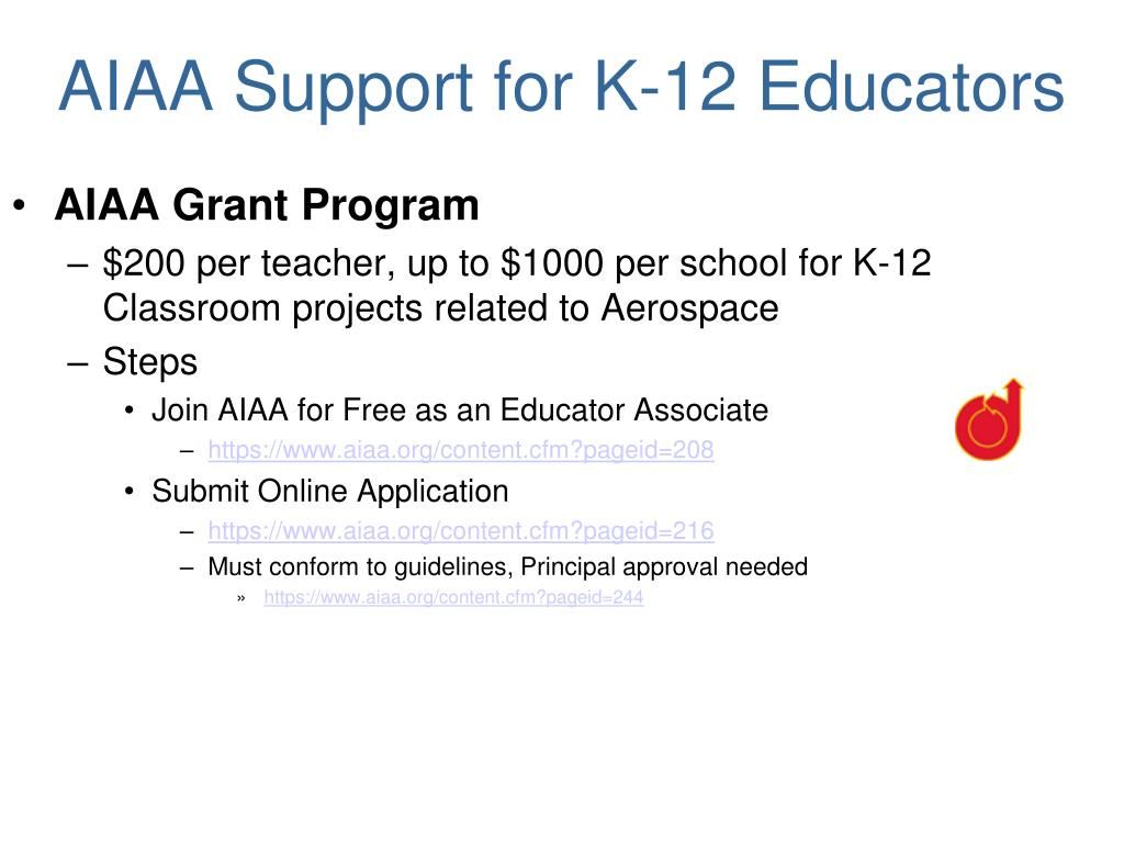 AIAA Support for K-12 Educators