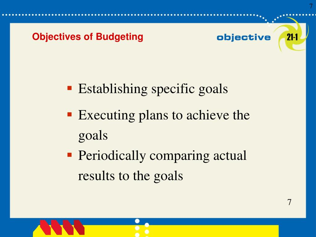 Establishing specific goals