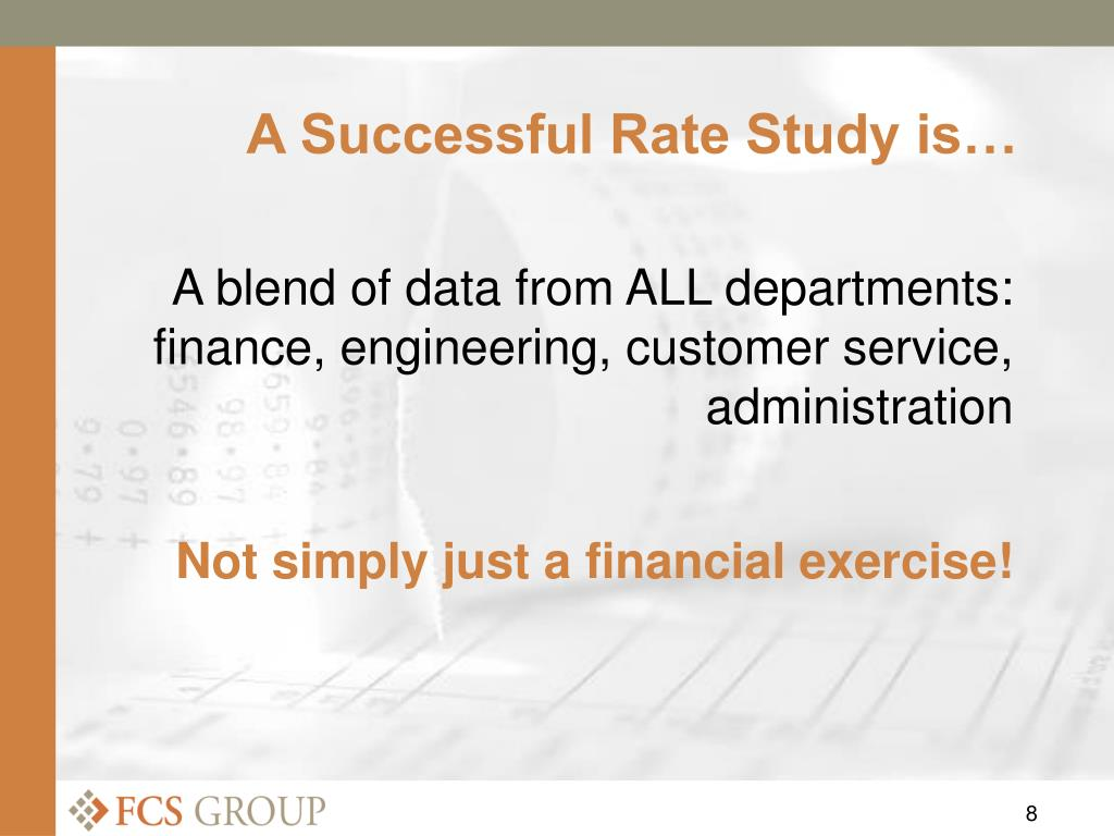 A Successful Rate Study is…