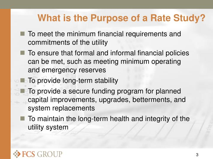 What is the purpose of a rate study l.jpg