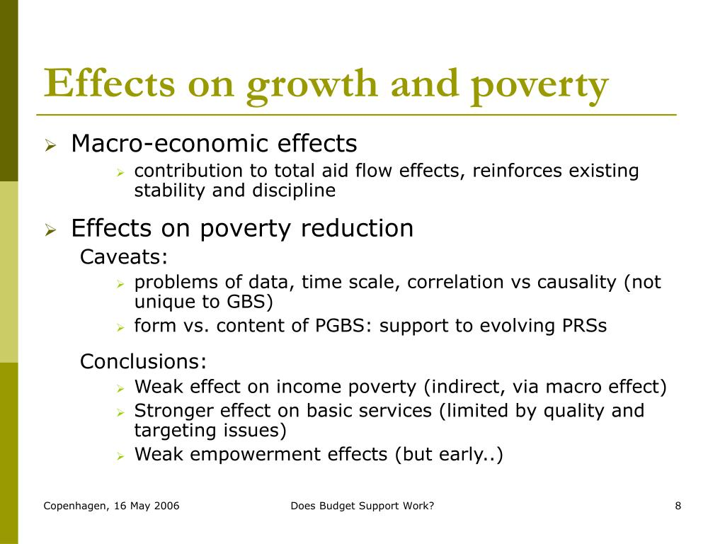 Effects on growth and poverty
