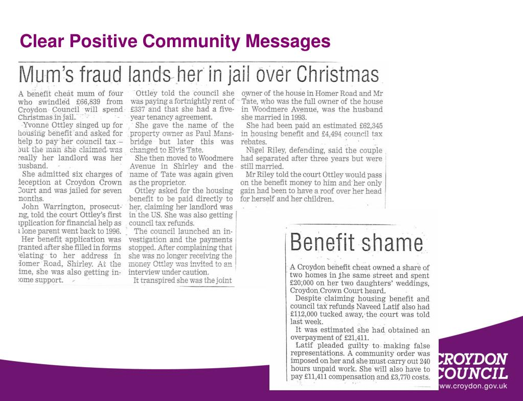 Clear Positive Community Messages