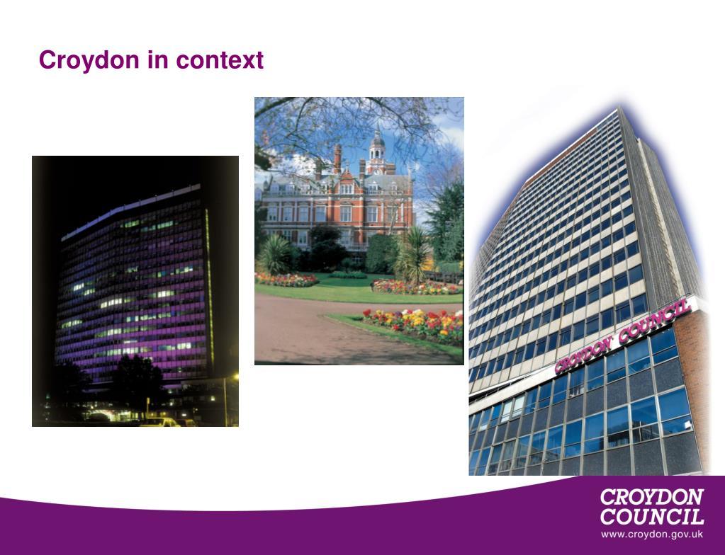 Croydon in context