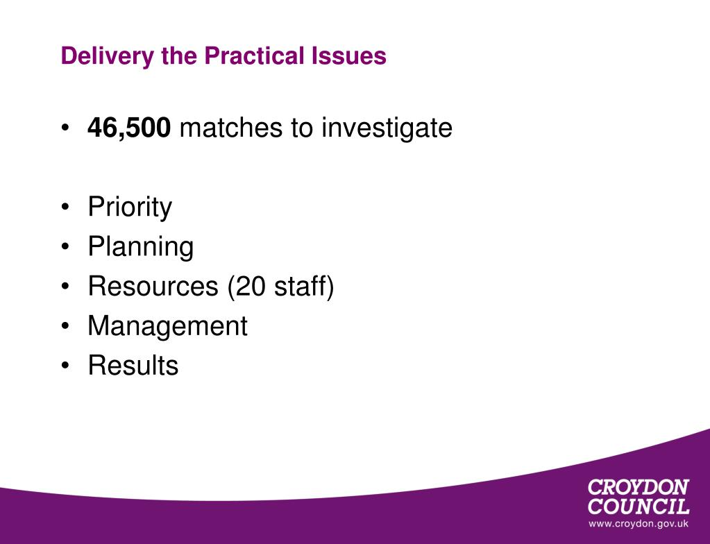 Delivery the Practical Issues