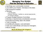 managing your budget find the savings in execution