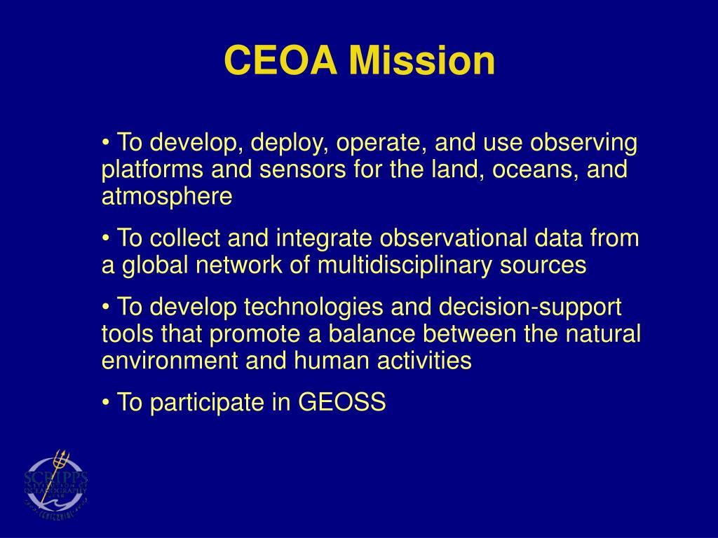 CEOA Mission