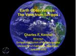 earth observations the view from scripps