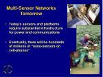 multi sensor networks tomorrow
