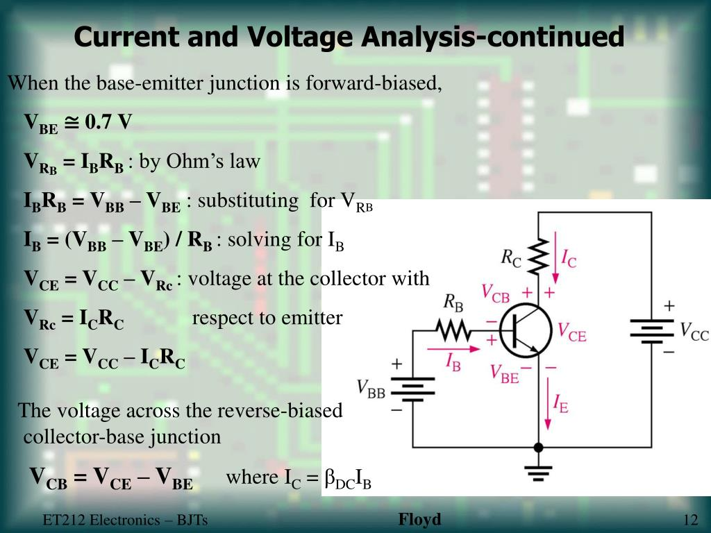 Current and Voltage Analysis-continued