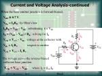 current and voltage analysis continued