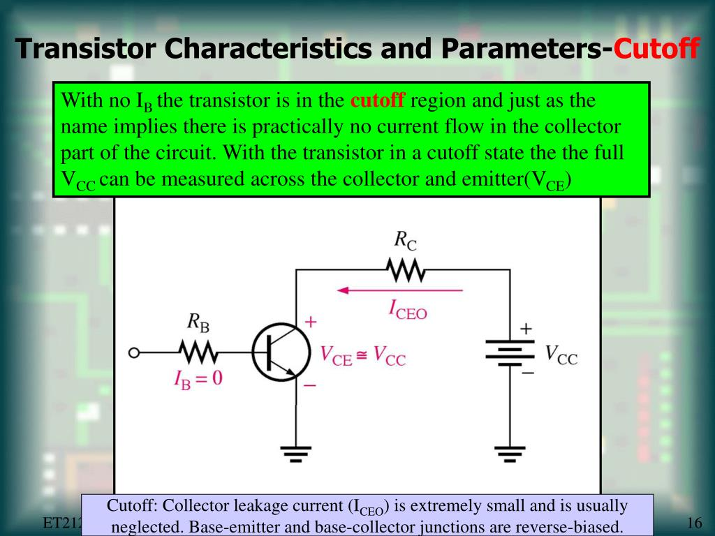 Transistor Characteristics and Parameters-