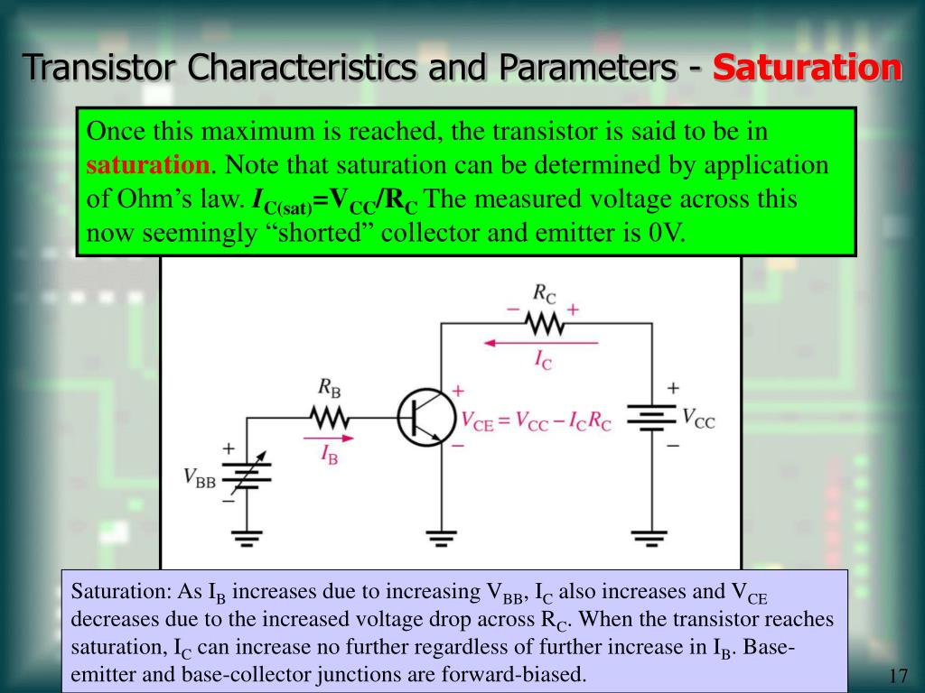 Transistor Characteristics and Parameters -