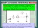 transistor characteristics and parameters saturation