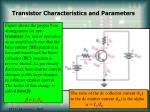 transistor characteristics and parameters