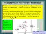 transistor characteristics and parameters10