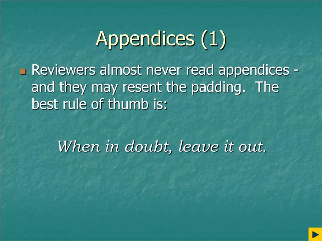 Appendices (1)