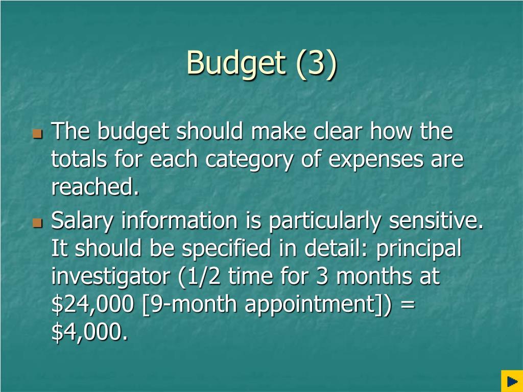 Budget (3)