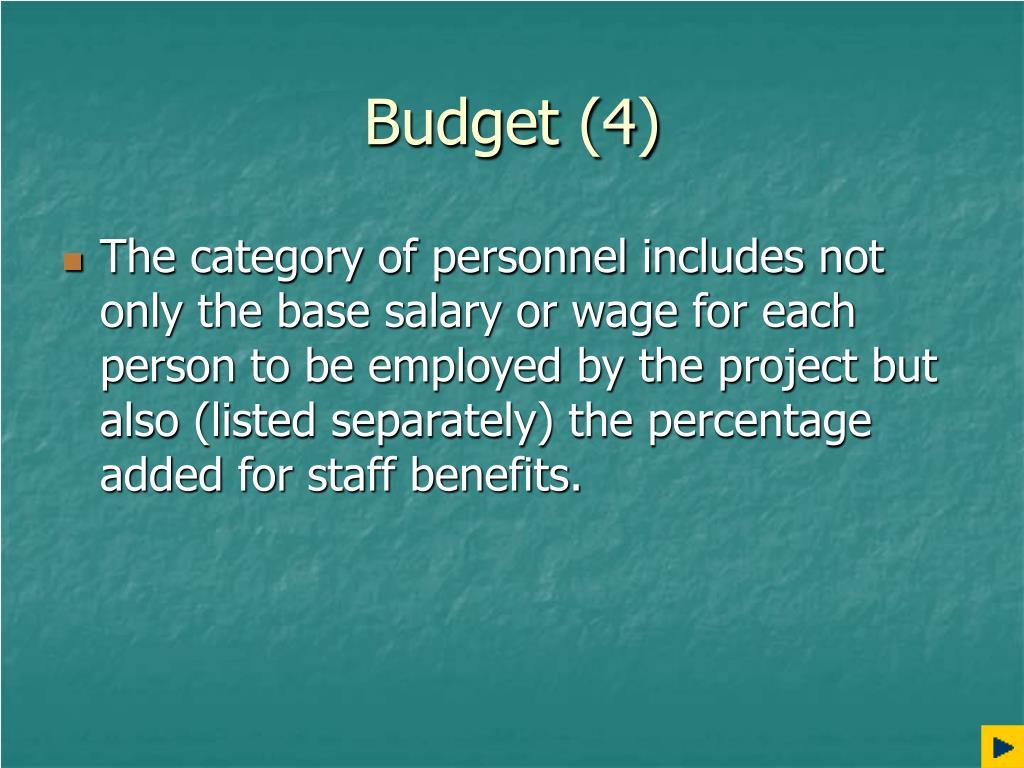 Budget (4)