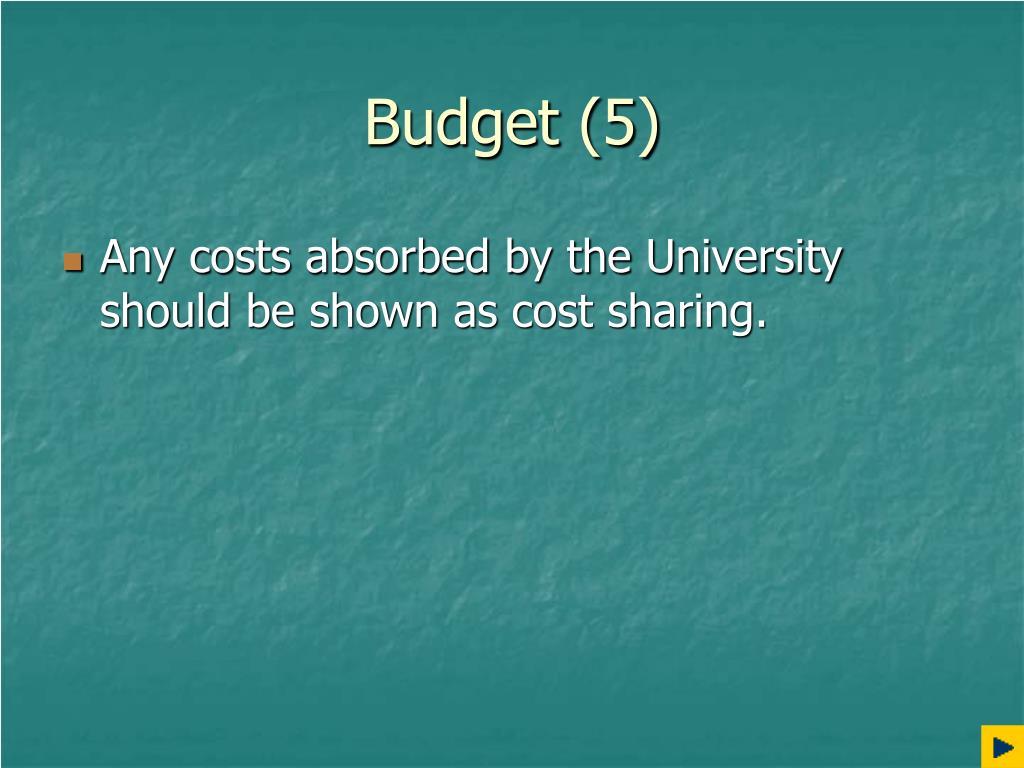 Budget (5)