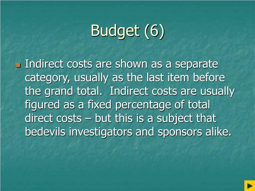 Budget (6)