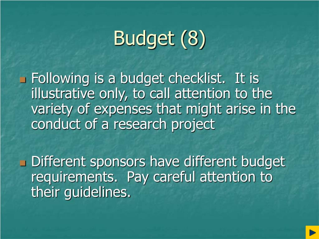 Budget (8)
