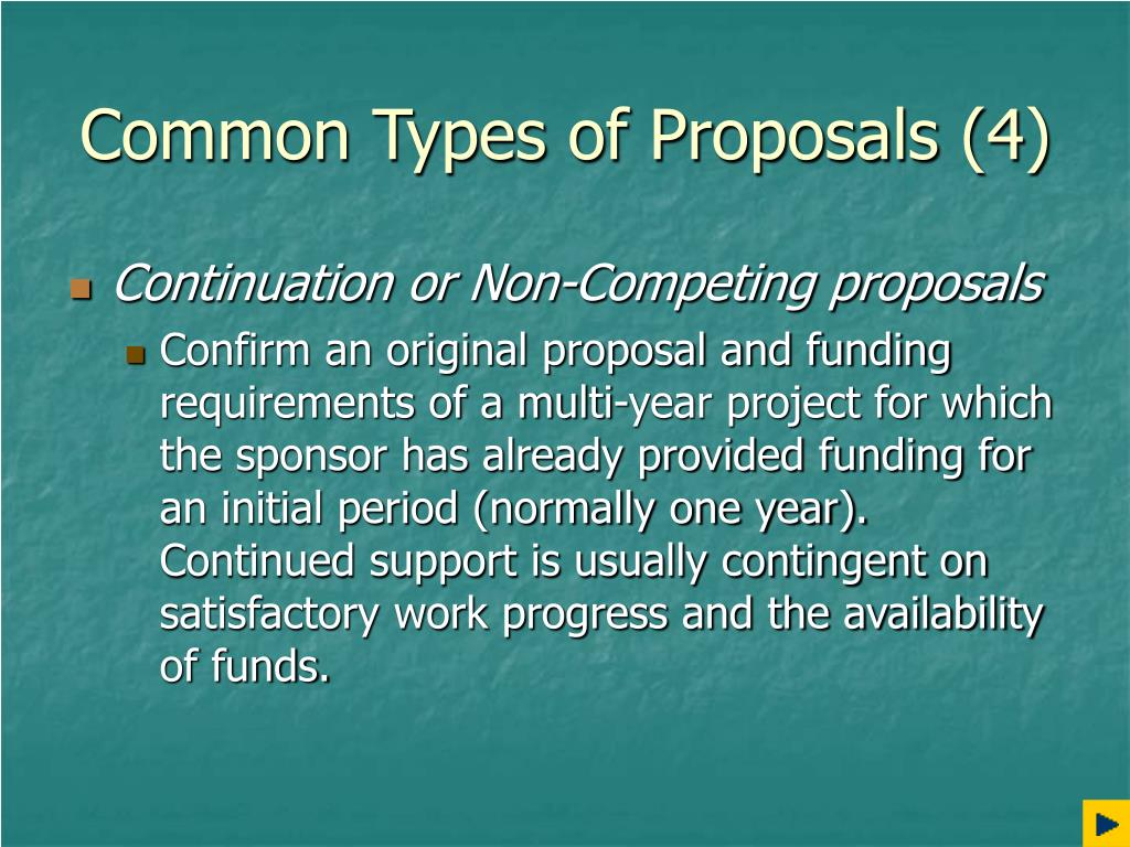 Common Types of Proposals (4)