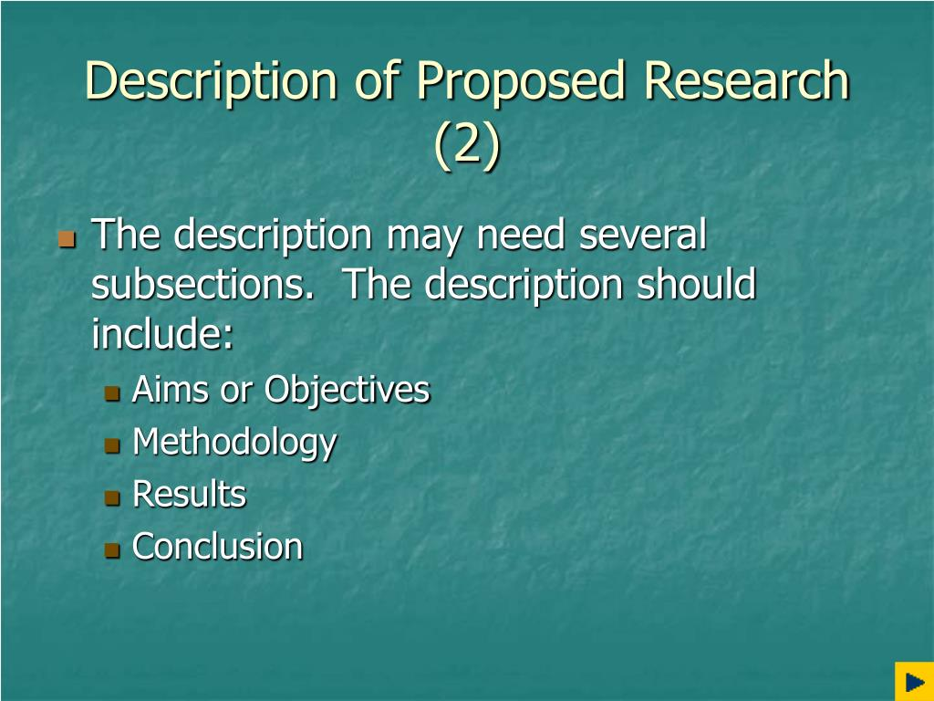 Description of Proposed Research (2)