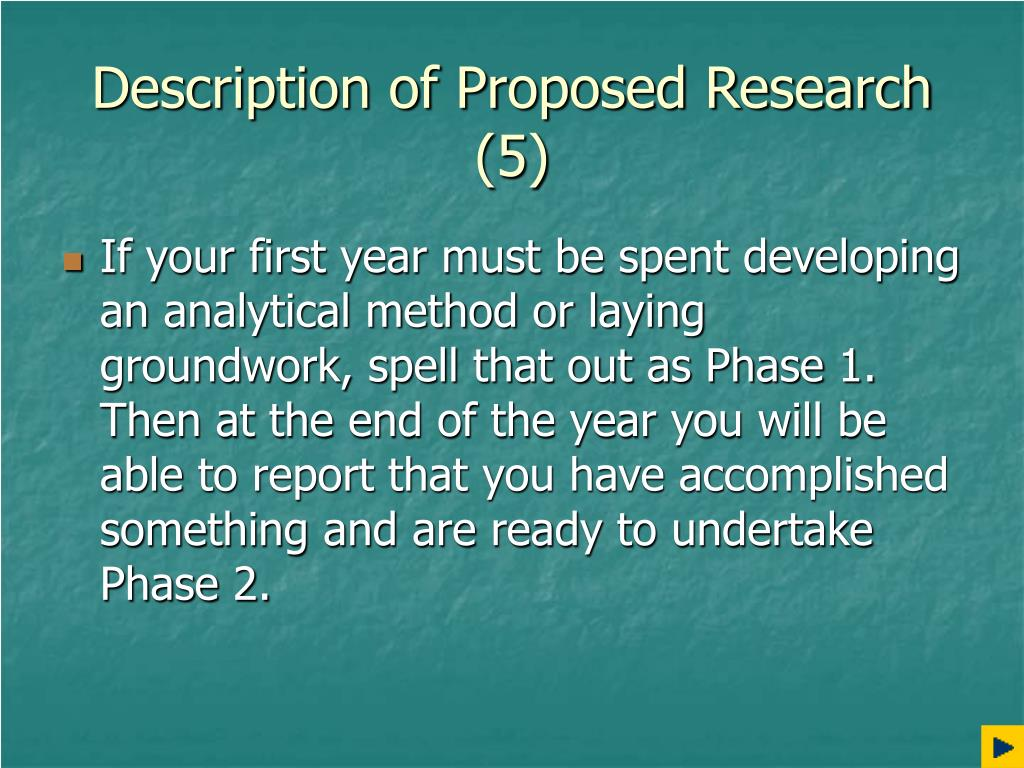 Description of Proposed Research (5)