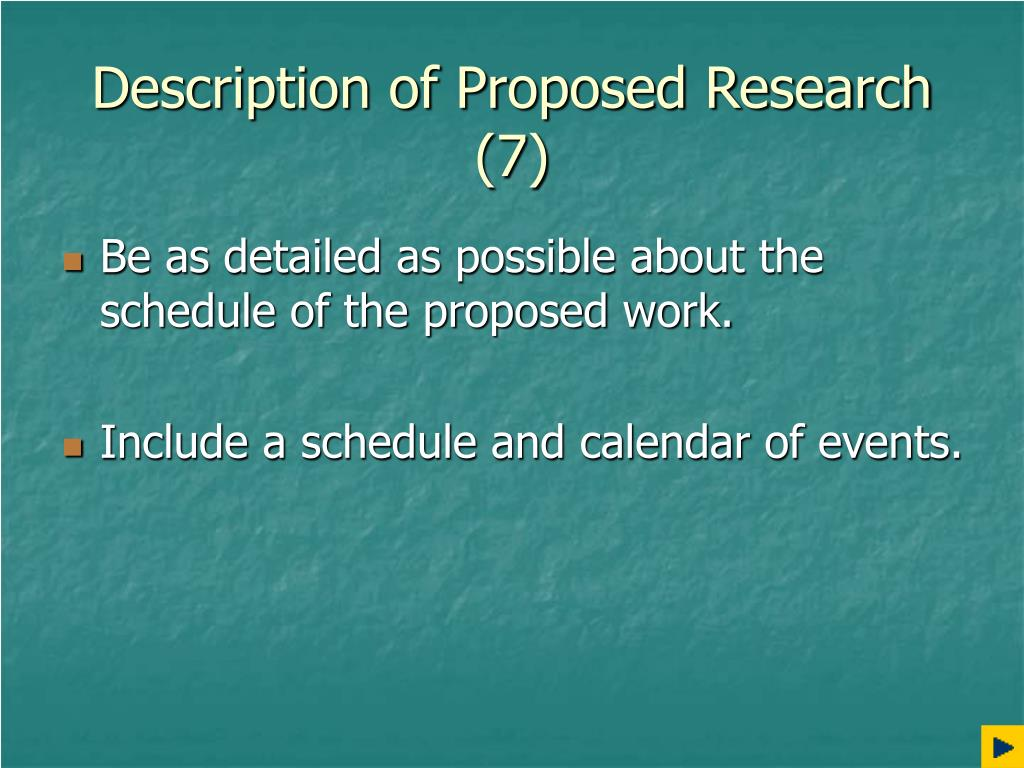 Description of Proposed Research (7)