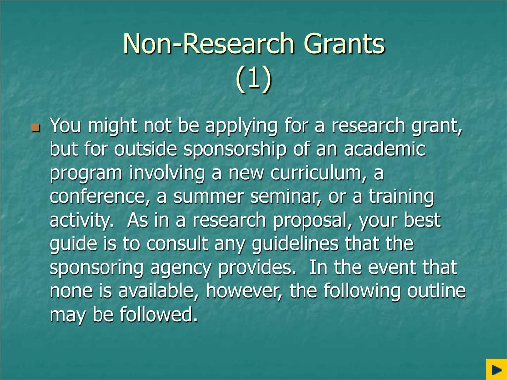 Non-Research Grants