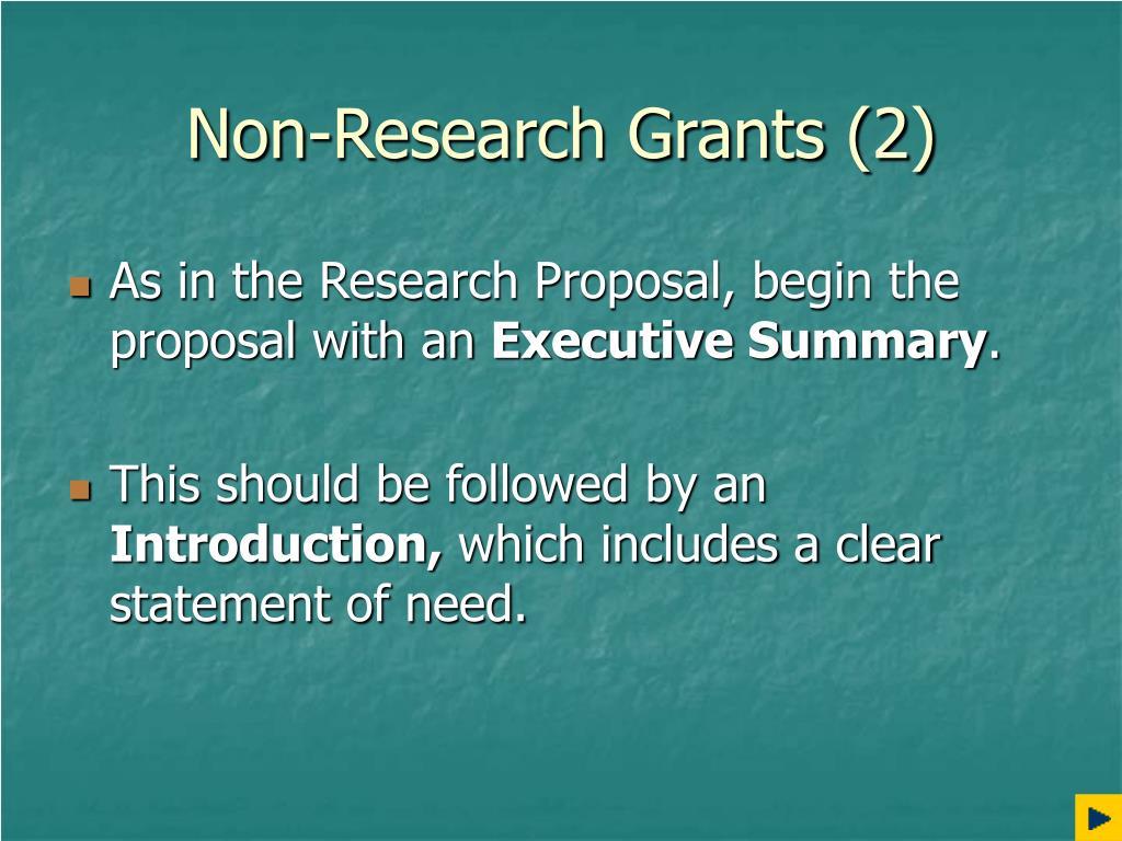 Non-Research Grants (2)