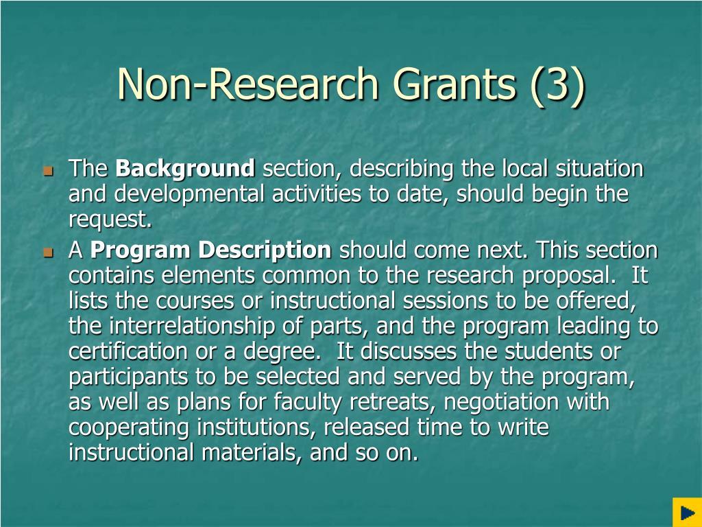 Non-Research Grants (3)