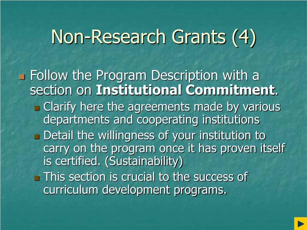Non-Research Grants (4)
