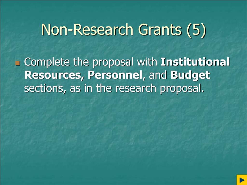 Non-Research Grants (5)