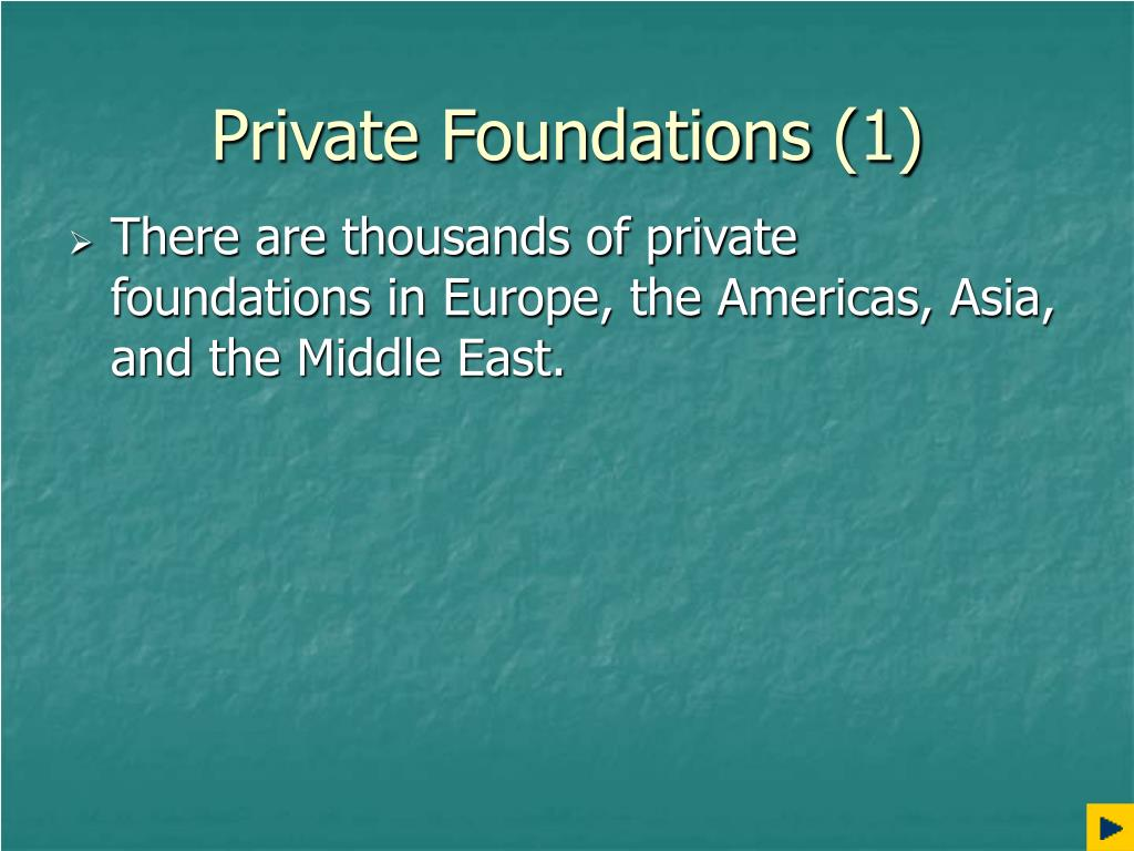 Private Foundations (1)