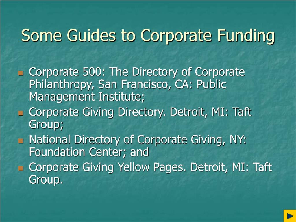 Some Guides to Corporate Funding