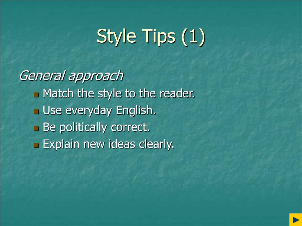 Style Tips (1)