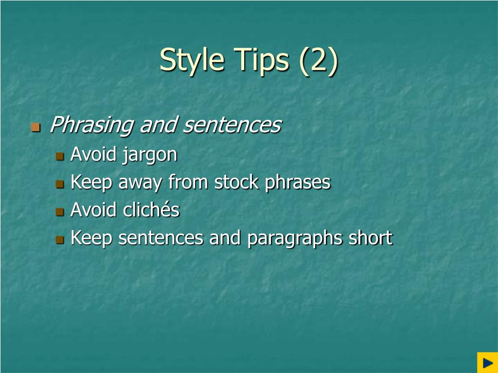 Style Tips (2)
