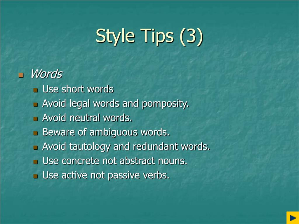 Style Tips (3)