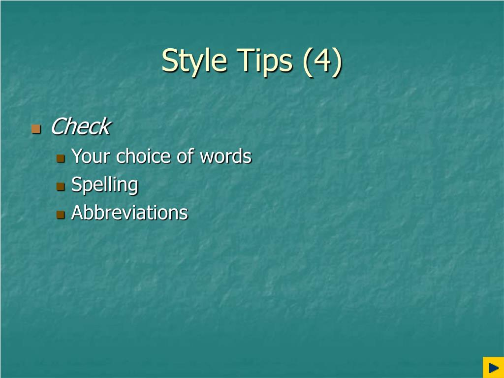 Style Tips (4)