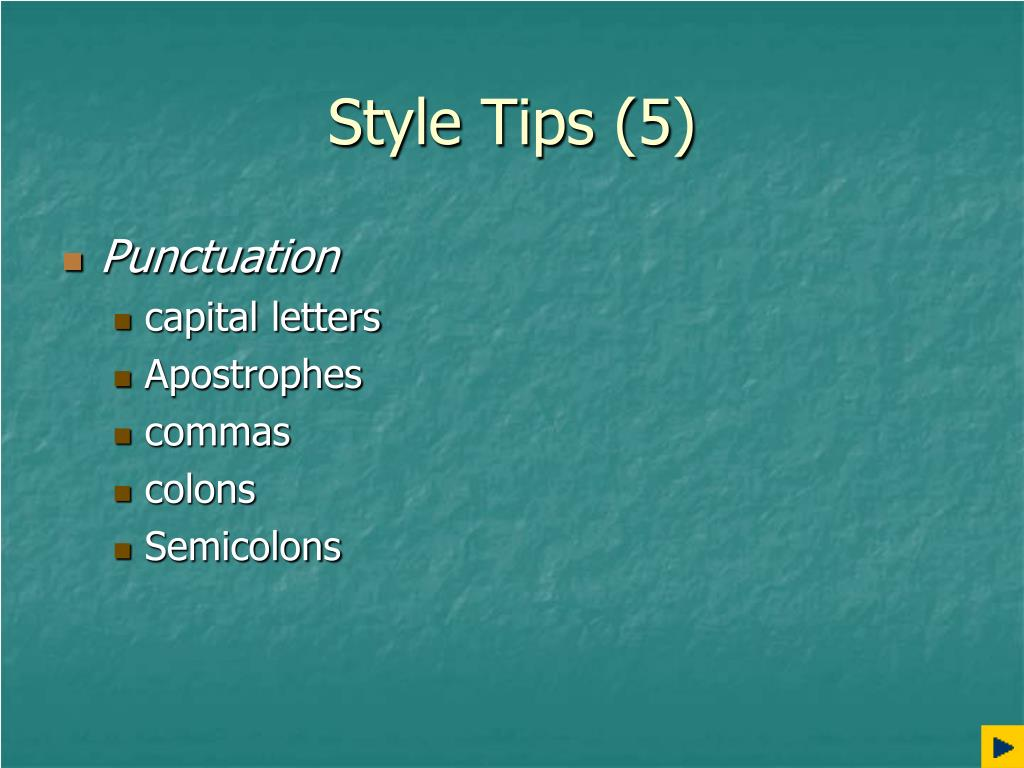 Style Tips (5)