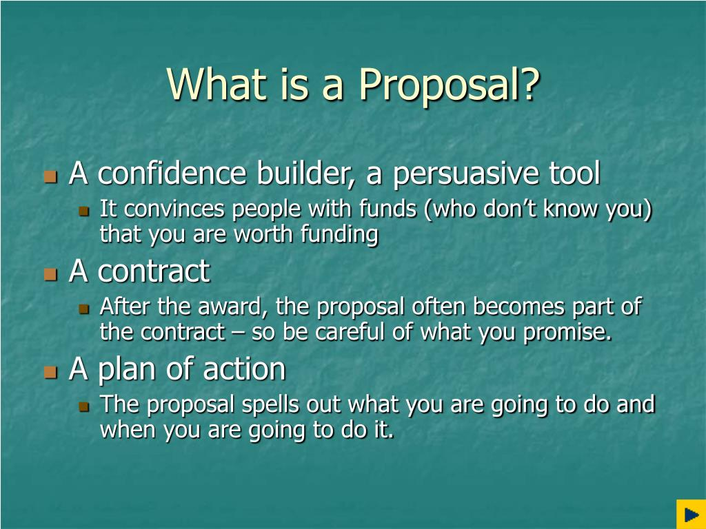 What is a Proposal?