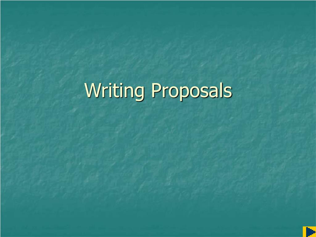 writing proposals