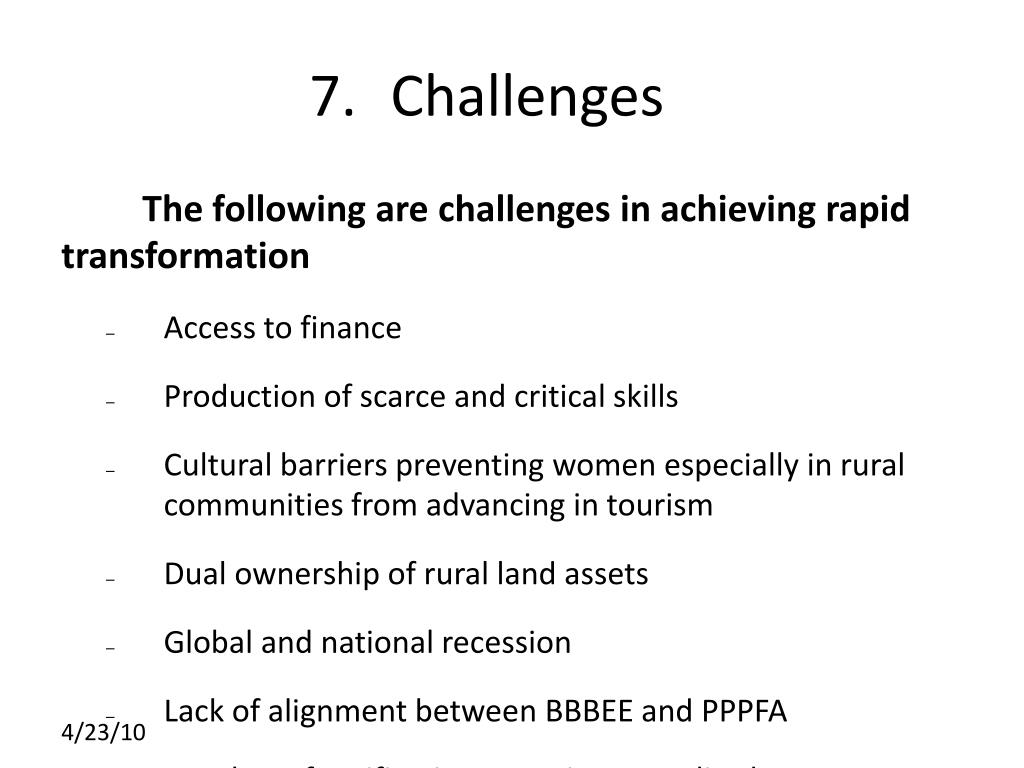 7.Challenges
