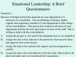 situational leadership a brief questionnaire